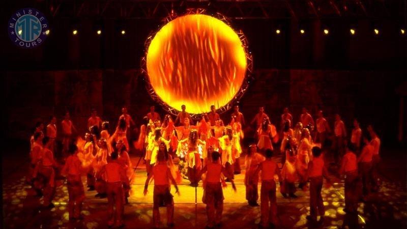Fire of Anatolia Show in Side Turkey