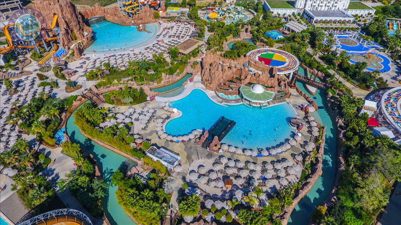 The Land of Legends water Park from Belek