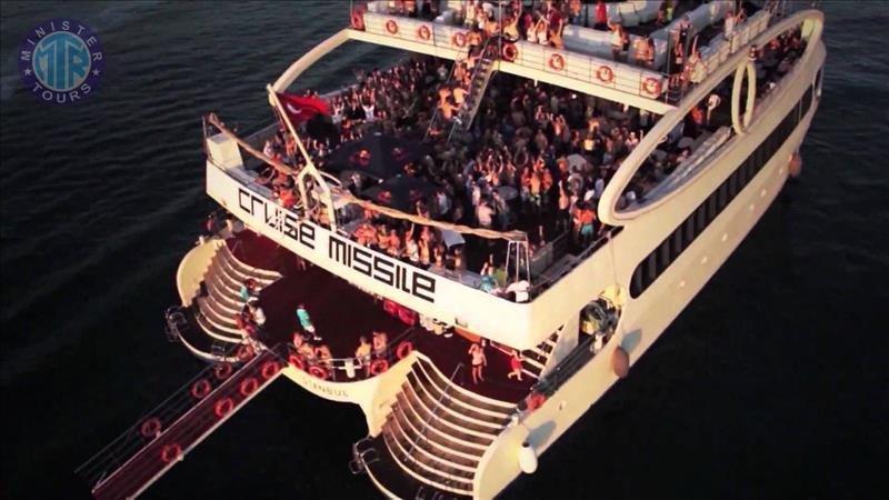 Night party boat in Antalya