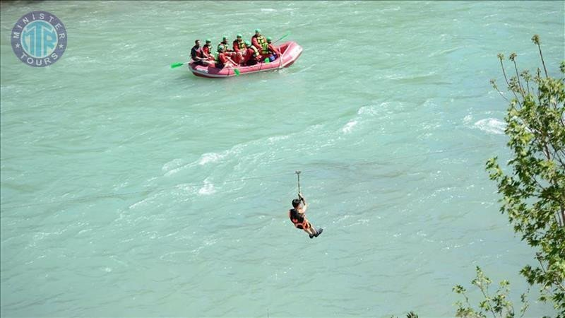 Side Zipline, Rafting and Trekking